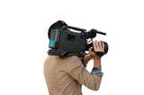Cameraman isolated - 38318099