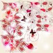 Composizione artistica di  orchidee con spazio per il testo