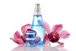 Perfume Bottle with Orchids
