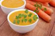 zuppa di carote e zucca - cinque