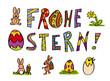 Frohe Ostern Kinderschrift