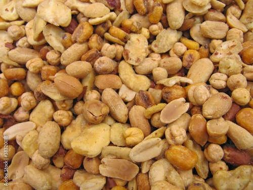 Mixed nuts, mezcla de frutos secos.