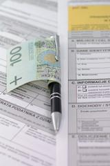Podatek banknot długopis