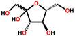 Fructose structural formula