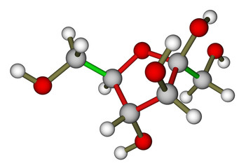 Fructose molecular structure