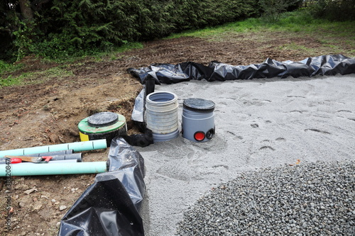 Installing Sand Filter Bed For Domestic Sewage - 38320847