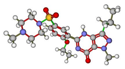 Viagra (sildenafil) molecular structure