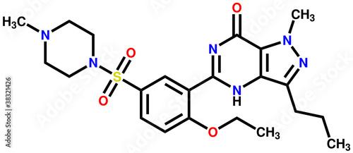 Viagra (sildenafil) structural formula