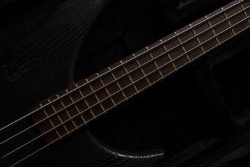 Guitar neck on black