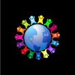 Diversity people around world logo