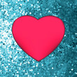 Heart on glitter light Valentine's day. EPS 8