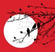 vector birds on branches