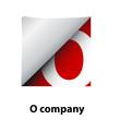 Logo label letter O # Vector