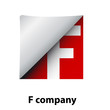 Logo label letter F # Vector