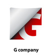 Logo label letter G # Vector