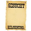 Plakat - GESUCHT BELOHNUNG white