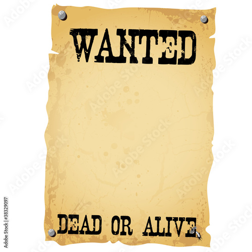 Plakat - WANTED DEAD OR ALIVE white