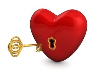 Herz - Schlüssel