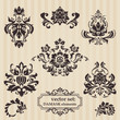 Set of ornamental DAMASK illustrations - for your design, invita