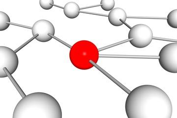 Network Abbildung weiss rot