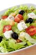 insalata mista con pomodori feta ed olive nere