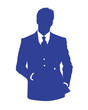 man office avatar blue