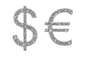 Symbole: Dollar und Euro