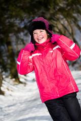 winter portrait of a girl