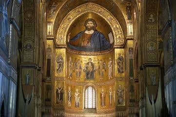 Christ Pantokrator. Cathedral-Basilica of Monreale, sicily