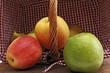 bunte Äpfel