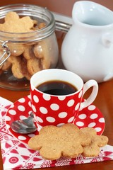 Coffee and homemade butter cookies