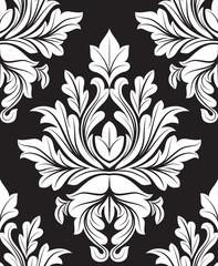 White Damask Floral Background