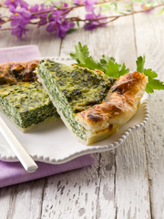 cake with ricotta and spinach