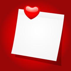 Valentine Note Paper
