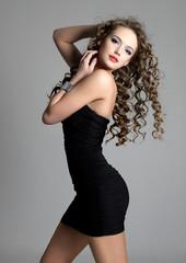 Beautiful sensual girl with long hair