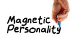 Hand Writing Power Phrase Magnetic Personality