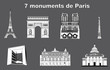 7 monuments de Paris - France
