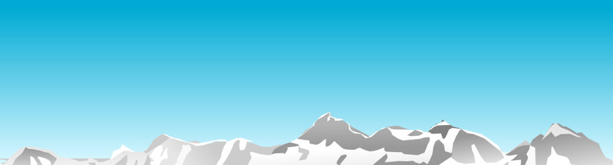 Berge mit blauem Himmel