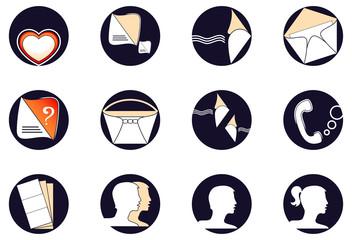 Set a web of icons
