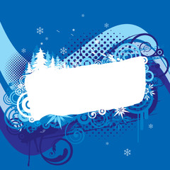 Christmas blue background design