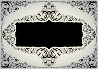 Black ornamental background