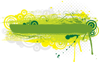 Grunge green background design