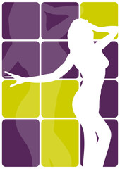 "vector background ""dancing girl"""