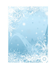 Blue snowflake background design