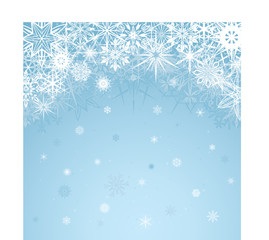 Winter blue background design