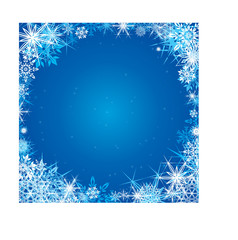 Winter blue square background
