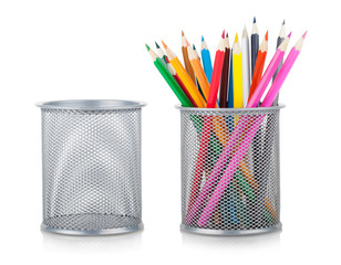 color pencils and holder