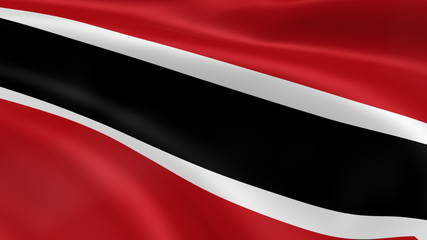 Trinidadian flag in the wind