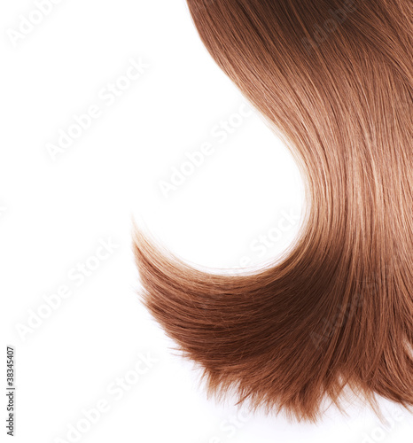 Healthy Brown Hair isolated on white