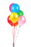 Fototapety bright balloons isolated on white.